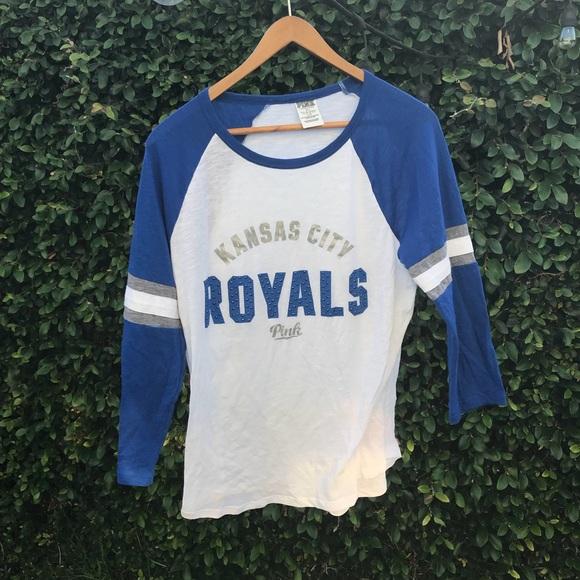 8d495e934 Pink VS Kansas City Royals baseball tee. M 5b42acfec61777a6a6cbdfaa